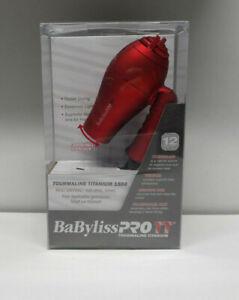 BaBylissPRO BABTT053T  Tourmaline Titanium Travel Dryer, Red