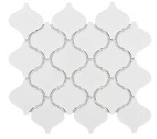 Arabesque Lantern Beacon Matte White Porcelain Mosaic Wall Tile