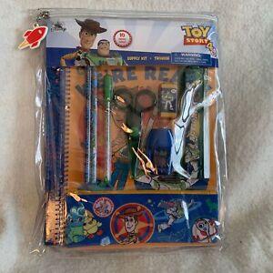 Disney Store School Supply Kit Toy Story 4 (10 Pieces) Pencil Notebook Scissors
