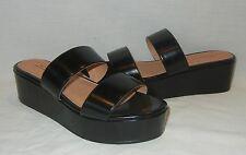 UO Urban Outfitters Women's Jan Faux Leather Wedge Heel Platform Sandal Size 9