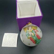 Li Bien PIER 1 Glass Christmas Tree Ornament 1998 Hand Painted Angels