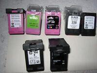HP 300. 7x EMPTY RE-USEABLE CARTRIDGES. (4x Black,3x Colour)