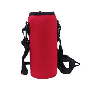 1000ml neoprene water bottle carrier insulated cover bag holder strap travel> PT