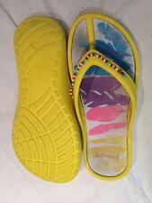 De fonseca - Infradito giallo con suola colorata e perline - N° 33 - USATI