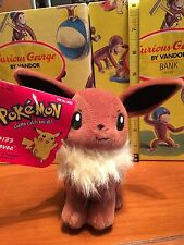 BRAND NEW W/TAGS EEVEE POKEMON  LICENSED BY HASBRO NEW BEANIE BABIES