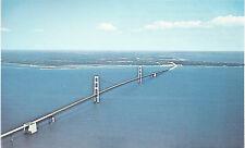 Mackinac Bridge   Straits of Mackinac   Mackinaw City  MI   Postcard  3