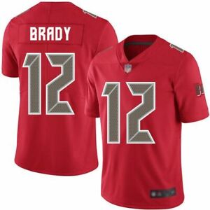 TOM BRADY TAMPA BAY BUCCANEERS RED COLOR RUSH MEN XL JERSEY. NWT. STITCHED