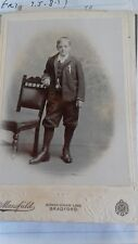 Vintage Cabinet card. Boy. Mansfield. Bradford. Walker.