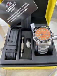 Brand New Orient Diver Watch Poseidon 46mm Brazil Only Orange Dial 469SS040 Star