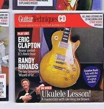 JOE BROWN / ERIC CLAPTON / RANDY RHOADS CD GUITAR TECHNIQUES 176 2010