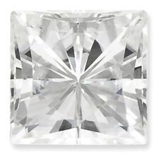 1 Princess Cut Moissanite White Brilliant 10mm Diameter 5.97 tcw Loose Stone