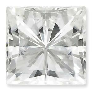 1 Princess Cut Moissanite White Brilliant 10mm Diameter 5.97 tcw Loose Stone