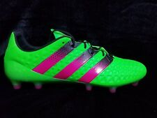 ADIDAS ACE 16.1 FG/AG SOCCER CLEATS AF5083 (GREEN/PINK) Size 12