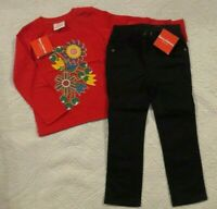 NEW Hanna Andersson Girls 3T 4T Outfit Knit Top Twill Pants Set 2 Pc Lot $77