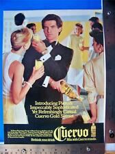 1986 Cuervo Tequila  Print Ad  with Pierce Brosnon  Advertisment