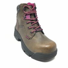 Women's NEW Wolverine Merlin Waterproof Steel Toe Work Boots Size 8 Brown AH1