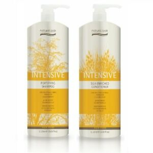 Natural Look Intensive Fortifying Shampoo & Silk Enriched Conditioner 1L Keratin
