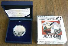 Spain 2012 Painter Juan Gris Silver 10 Euro PROOF Box COA #000939