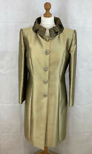 veni infantino dress jacket suit 14 gold jewelled buttons