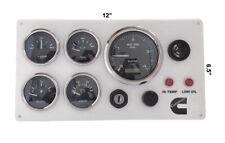 4000 RPM Programmable Tachometer Cummins marine Engine Instrument Panel, 5 gauge