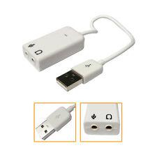 Virtual 7.1 3D External USB Audio Sound Card Adapter 3.5mm Earphone Microphone
