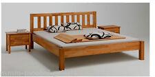 Schweres Massivholz Bett, Holzbett Kernbuche massiv geölt  140 x 200 cm STABIL