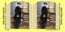 John Wilkes Booth Lincoln Assassin Civil War SV Stereoview Stereocard 3D 33335