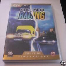 NIGHT WATCH RACING gioco pc originale corse NUOVO ITA