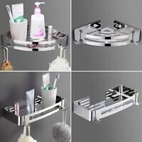 Wall Mount Shower Shelf Storage Basket Caddy Corner Rack Bath Kitchen Organizer