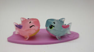 HATCHIMAL COLLEGGTIBLES HTF RARE & ULTRA RARE SHARKLE BLUE PINK SET OF 2 CUTE!