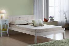 Birlea Rio White CORONA Mexican Solid Wood 120cm 4ft Small Double Bed Frame