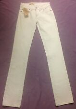 Ralph Lauren Denim & Supply White Straight SKINNY Jeans UK 6 24 Waist 34 Leg