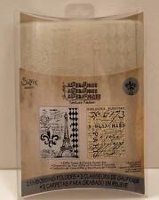 TIM HOLTZ ALTERATIONS TEXTURE FDS EIFFEL TOWER & FRENCH SCRIPT EMBOSSING FOLDERS