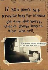 "The Center For Children Protecting Kids Homeless Advertisement Postcard 6x4"""
