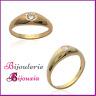Ring Alliance Armreif Zirkonium Vergoldet 18 Karat Kleine und Große Größen