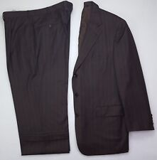 Samuelsohn Brown 42R Suit Striped Mens Super 130's Wool SB Andrew 3 Button Size