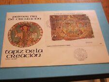 España, bloque de salida en carta, tapiz de la creacion, 25.10.1980