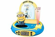 Lexibook RP500DES Despicable Me Minions FM Radio Alarm Clock Projector with LCD