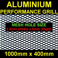 Black Aluminium Racing Grille Net Vent Race Car Tuning 40x100cm Mesh 3,5x5mm