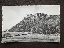 BLACK & WHITE RP POSTCARD OF STIRLING CASTLE FROM KINGS KNOT