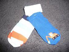 NEW Boys Size 6-12 months 2 pair socks bulldozer/stripes Gymboree NWT