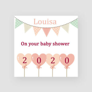 Personalised Handmade Bunting & Balloons Baby Shower Card 2020 Mummy To Be