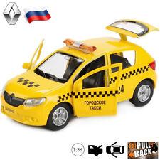 Renault Sandero II Taxi Toy Car - 1/36 Scale Diecast Metal Model
