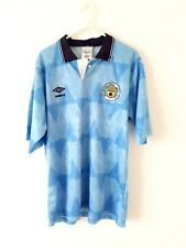 Manchester City Home Shirt 1989. Medium. Umbro. Blue Adults Man Top Only M.