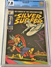Silver Surfer #4 02/69 CGC 7.0 ow/w pgs (classic battle Silver Surfer vs Thor)