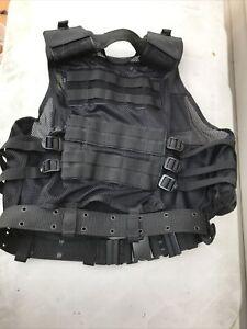 Voodoo Tactical MSP-06 Entry Assault Vest Nylon Large/XL BLACK
