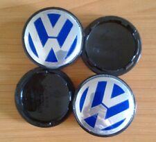 Set di 4 Blu 70mm VW Ruota Centro CAPS BADGE EMBLEMA LOGO cerchi in lega VOLKSWAGEN
