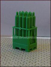 24 Gasflaschen 2 Palettenkasten seltene Grün PrimaGas Ladegut LKW diorama 1:87h0