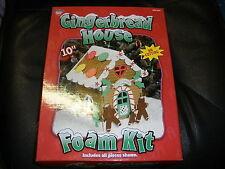 "NEW Gingerbread House Foam Kit 10"" no cutting"