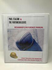 Fortune Builders Rehabber's Reference Manual - Paul Esajian